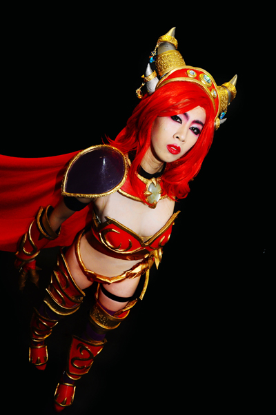 Alexstrasza's horns were made the same way. ^_^